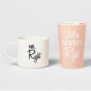 Threshold Mr. Right & Mrs. Always Right Mug Set